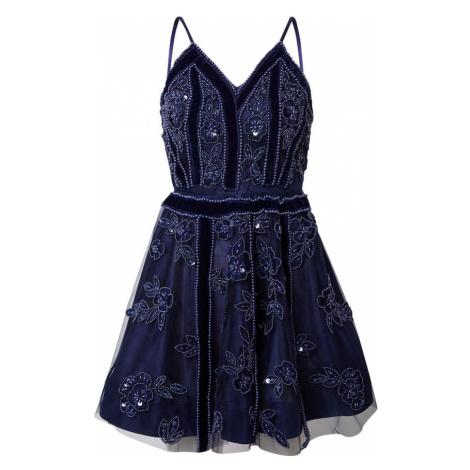 A STAR IS BORN Koktejlové šaty námořnická modř