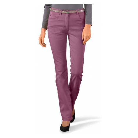 Rovné kalhoty purpurová
