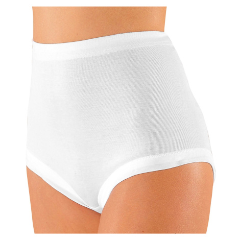 Blancheporte Pohodlné kalhotky, sada 4 ks bílá
