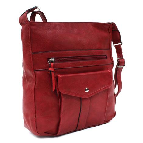 Tmavě červená dámská módní zipová kabelka Diahann Tapple