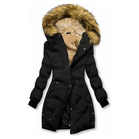 Černá prošívaná zimní bunda Butikovo
