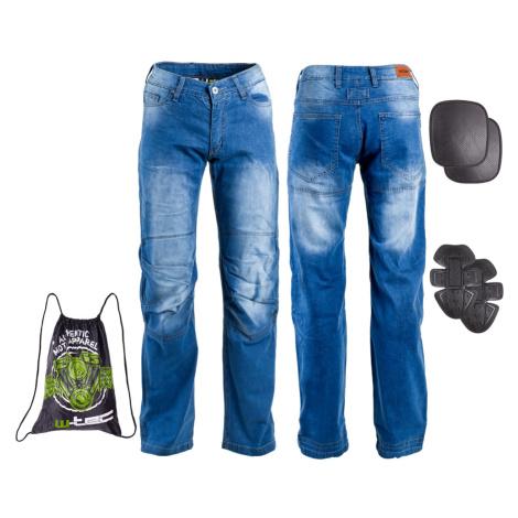 Pánské Moto Jeansy W-Tec Davosh Modrá