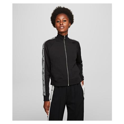 Mikina Karl Lagerfeld Zip Up Sweat W/ Logo - Černá