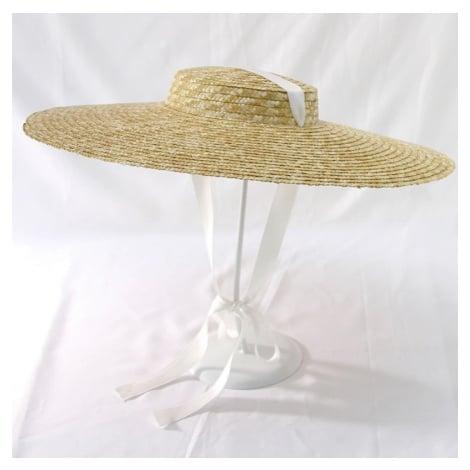 Letní slaměný klobouk s barevnou shuhou