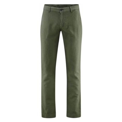 Pánské lněné prodyšné kalhoty s biobavlnou
