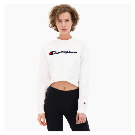 Bílá croptop mikina Rochester High Neck Sweatshirt Champion