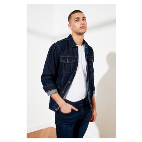 Trendyol Navy Blue Men's Long Fit Jacket