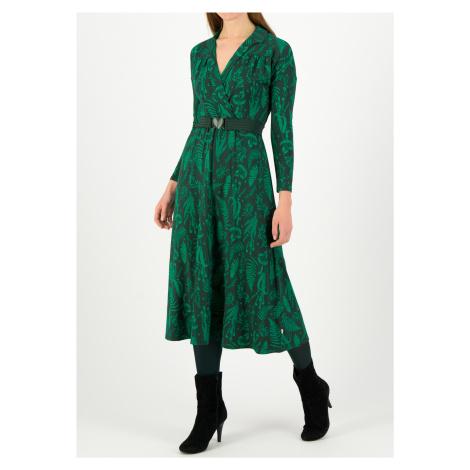 Dlouhé šaty s dlouhým rukávem zelené Blutsgeschwister Léčivé byliny