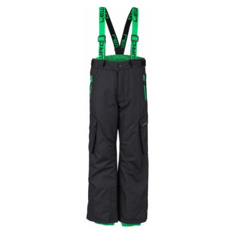 Lewro HRISCO zelená - Dětské snowboardové kalhoty