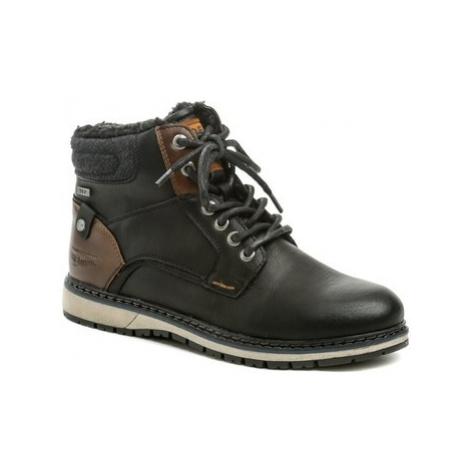 Tom Tailor 9085302 černé pánské zimní boty Černá