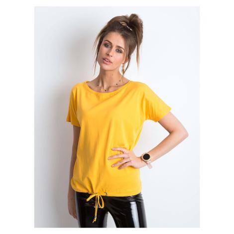 Dámské bavlněné tričko světle oranžové barvy