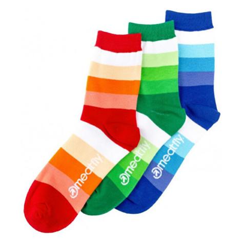 Meatfly PACK - ponožky Stripes Shades socks S19 Multipack