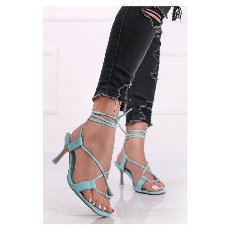 Mátové šněrovací sandály na tenkém podpatku Lust City Shoes