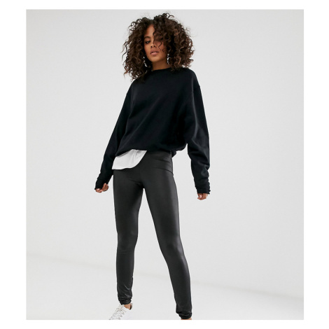 Noisy May Tall faux leather legging-Black