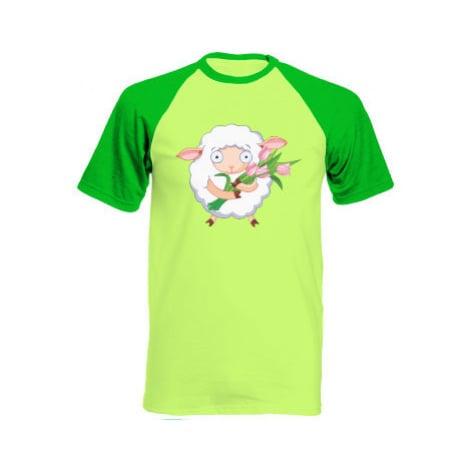 Pánské tričko Baseball Ovečka