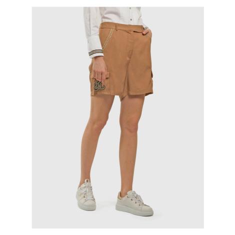 Šortky La Martina Woman Viscose Twill Shorts - Hnědá