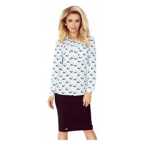 Dámská košile Morimia 018-5 | bílo-černá