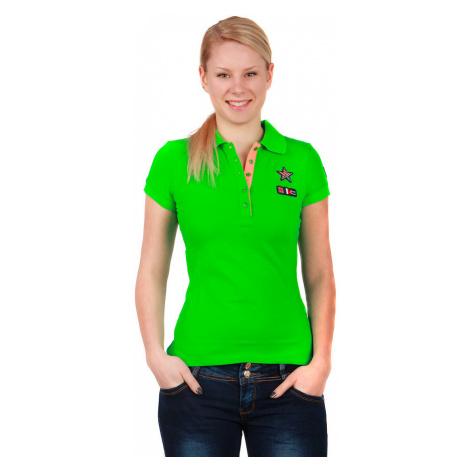 Dámské bavlněné tričko s límečkem a krátkým rukávem