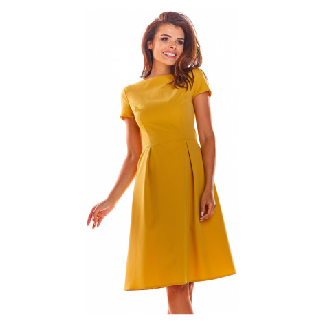 Žluté šaty A282 Awama
