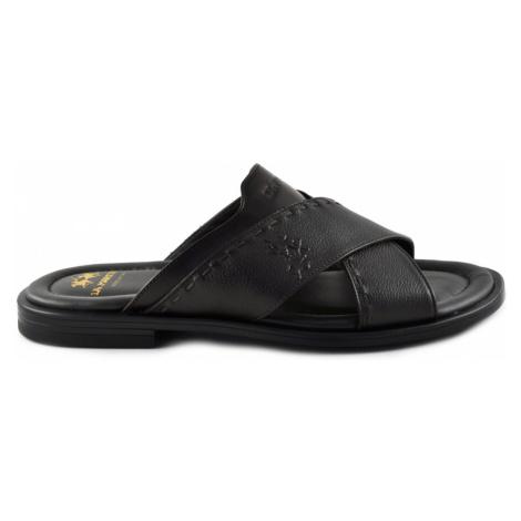 Pantofle La Martina Man Sandal Rodi - Černá