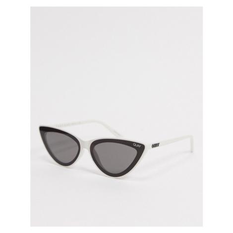 Quay Flex womens cat eye sunglasses in white Quay Australia