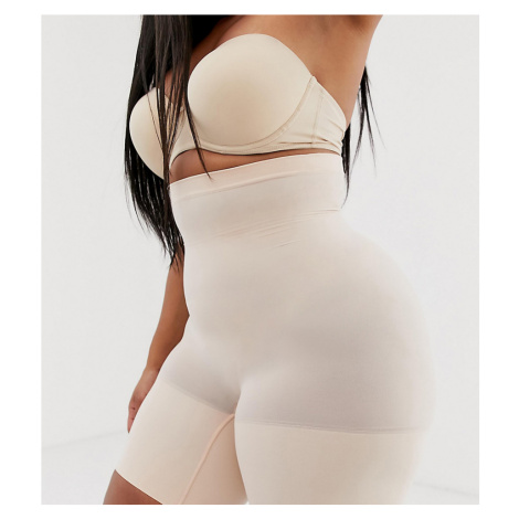 Spanx curve higher power shorts in beige