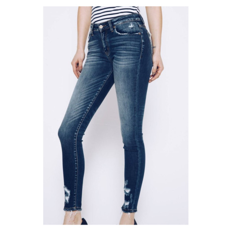 KanCan USA Distressed Skinny Ankle Jeans džíny KC8376D