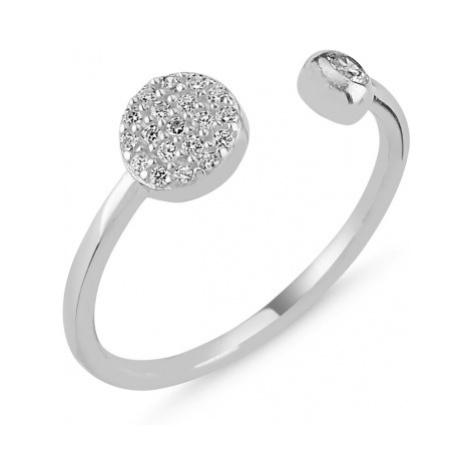 OLIVIE Stříbrný prsten - nastavitelná