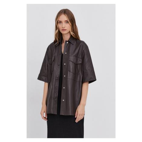 Samsoe Samsoe - Kožená košile