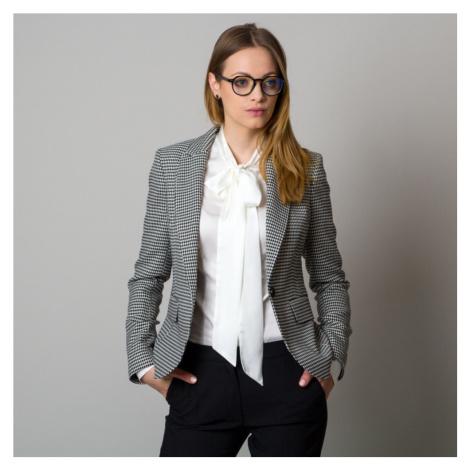 Dámské sako s černo-bílým vzorem 12419 Willsoor