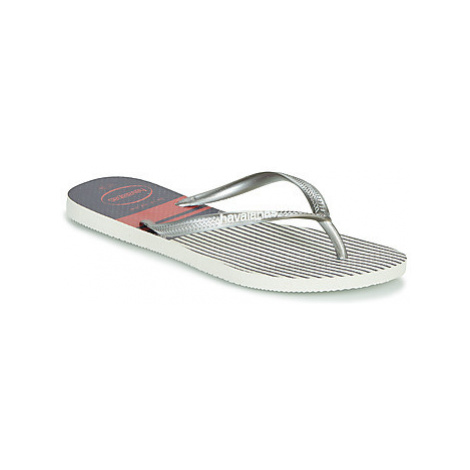 Havaianas SLIM NAUTICAL Bílá