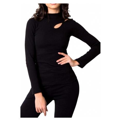 černé dámské tričko s průstřihy Rue Paris