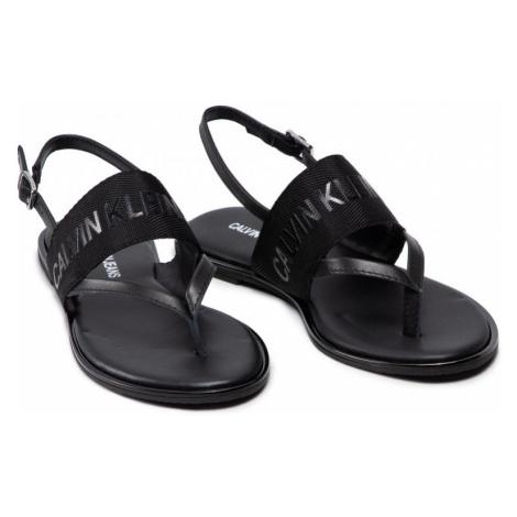 Calvin Klein Calvin Klein dámské černé sandále FLAT SANDAL TOE PL