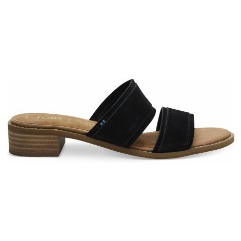 Black Suede Women Mariposa Sand Toms