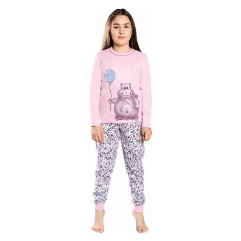 Dívčí pyžamo Lira růžové hroch Italian Fashion