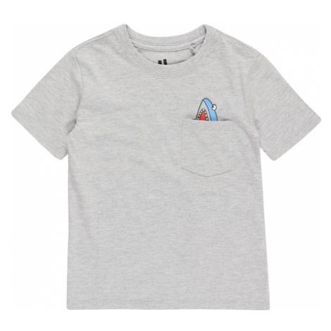 Cotton On Tričko 'DOWNTOWN' světle šedá / světlemodrá / červená / bílá