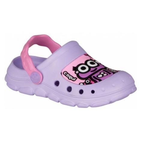 Coqui STONEY fialová - Dětské sandály
