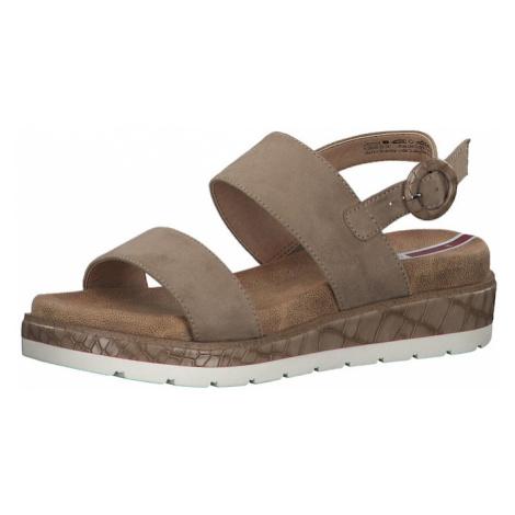 S.Oliver Páskové sandály světle hnědá
