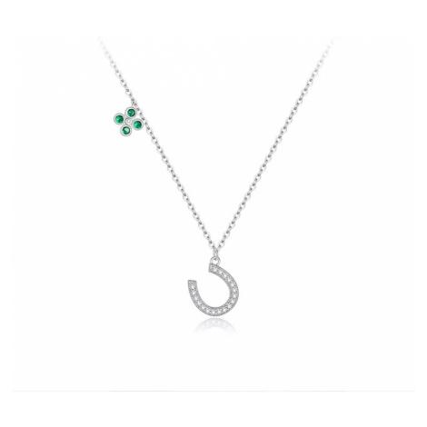 Linda's Jewelry Stříbrný náhrdelník Lucky Podkova Ag 925/1000 INH072