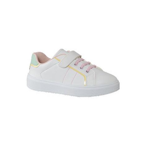 Bílo-růžové tenisky na suchý zip Graceland