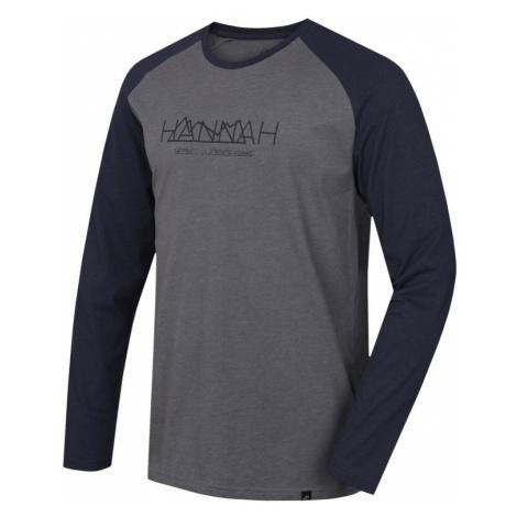 Pánské tričko Hannah Bantam steel gray mel/black iris