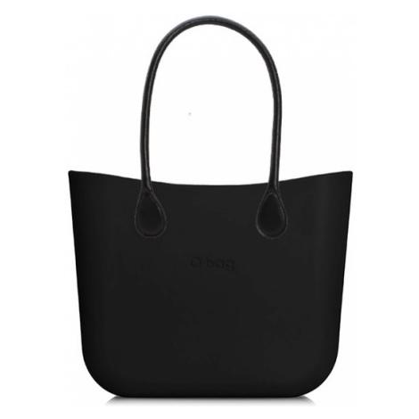 Kabelka obag mini černá s držadlem koženka černá O bag