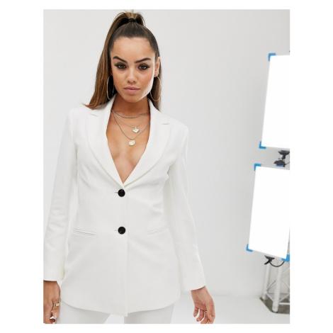ASOS DESIGN pop waisted suit blazer