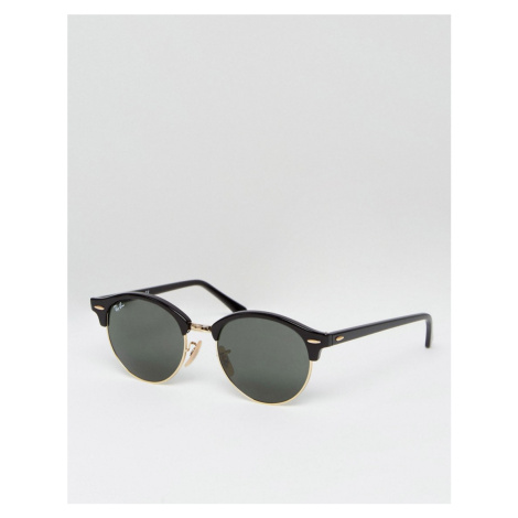 Ray-Ban clubmaster round sunglasses in black 0RB4246