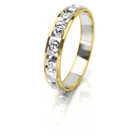 Art Diamond Dámský bicolor snubní prsten ze zlata AUG303