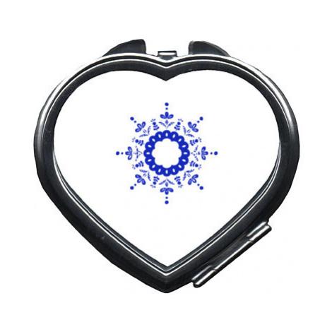 Zrcátko srdce Kulatý folklorní vzor