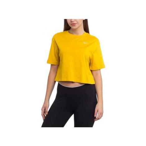 Nike Wmns Essntl Top SS Lbr Žlutá