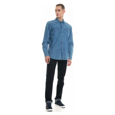 Big Star Man's Longsleeve Shirt 141691 Light Jeans-192
