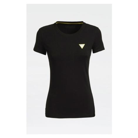 Guess GUESS dámské černé tričko s logem ORGANIC COTTON TEE
