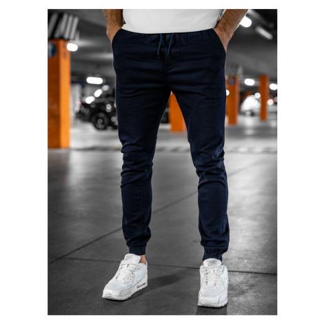 Tmavě modré pánské jogger kalhoty Bolf 0905